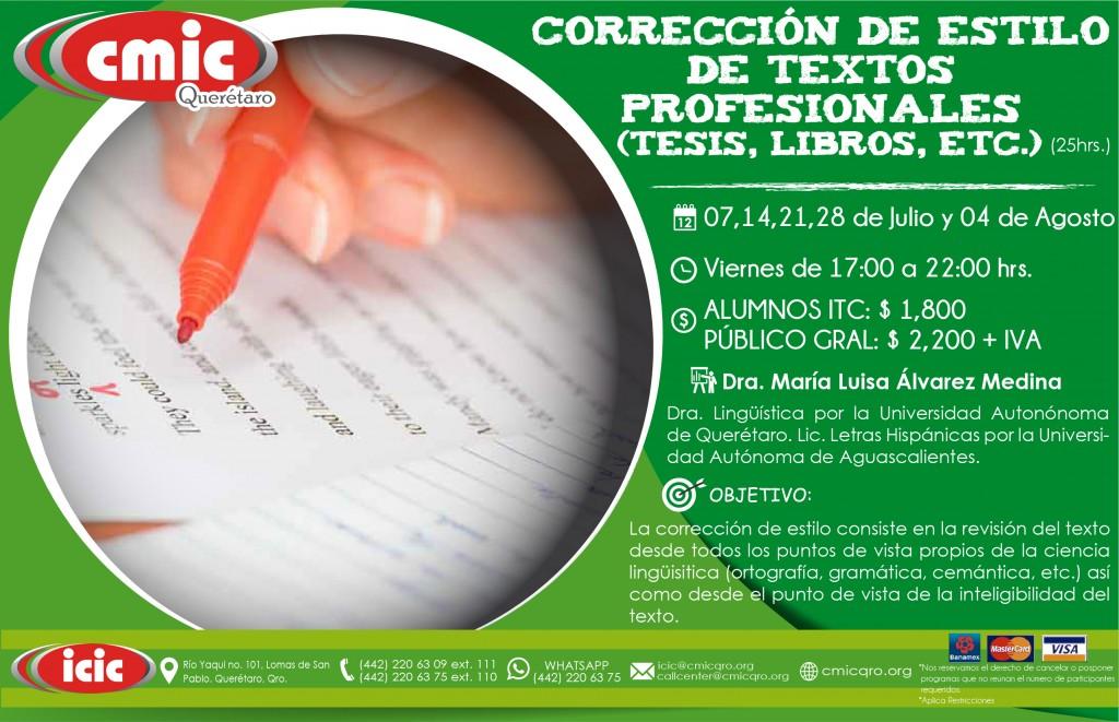 CORRECCION DE ESTILOS DE TEXTOS